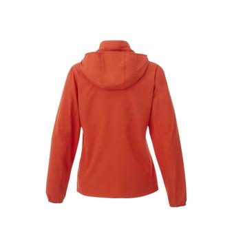 Saffron - back, 92608 Elevate Women's Toba Packable Jacket | Imprintables.ca