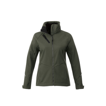 Loden - 92907 Elevate Women's Peyto Softshell Jacket | Imprintables.ca