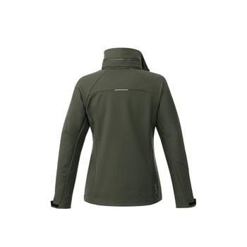 Loden - back, 92907 Elevate Women's Peyto Softshell Jacket | Imprintables.ca