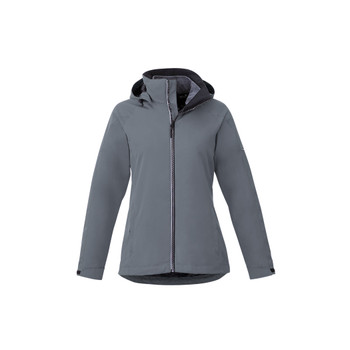 Quarry/Heather Dark Charcoal - 99307 Elevate Womens Arlington 3-In-1 Jacket | Imprintables.ca