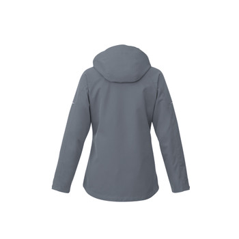 Quarry/Heather Dark Charcoal - back, 99307 Elevate Womens Arlington 3-In-1 Jacket | Imprintables.ca