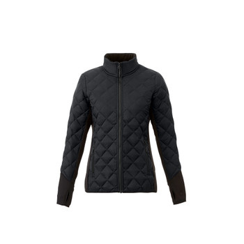 Black/Black - 99547 Elevate Women's Rougemont Hybird Insulated Jacket | Imprintables.ca