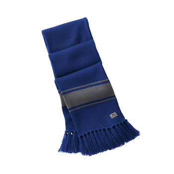 Cobalt/Quarry - 45109 Roots73 Unisex Branchbay Knit Scarf | Imprintables.ca