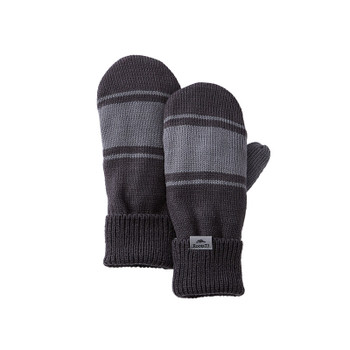 Charcoal/Quarry - 45110 Roots73 Unisex Hemlock Knit Mitts | Imprintables.ca