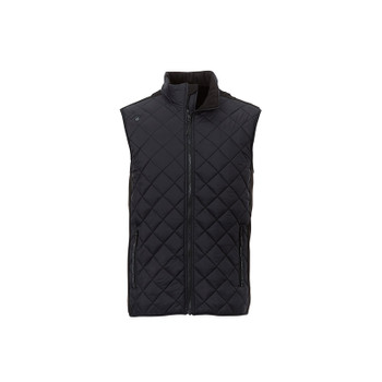 Black/Black - 14548 Elevate Men's Shefford Vest with Power Bank | Imprintables.ca