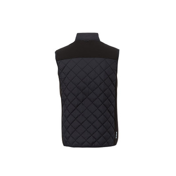 Black/Black - back, 14548 Elevate Men's Shefford Vest with Power Bank | Imprintables.ca