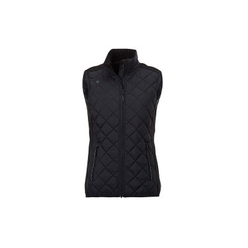 Black/Black - 94548 Elevate Women's Shefford Vest with Power Bank | Imprintables.ca