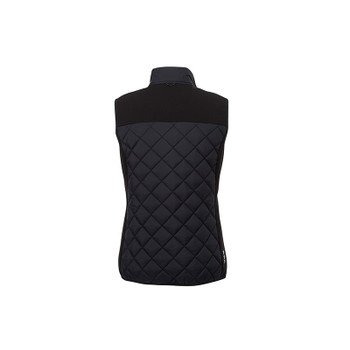 Black/Black - back, 94548 Elevate Women's Shefford Vest with Power Bank | Imprintables.ca