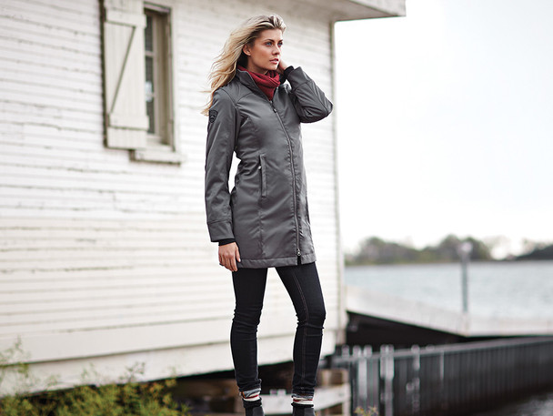 99407 Roots73 Northlake Ladies Insulated SoftShell - Model Image   Imprintables.ca