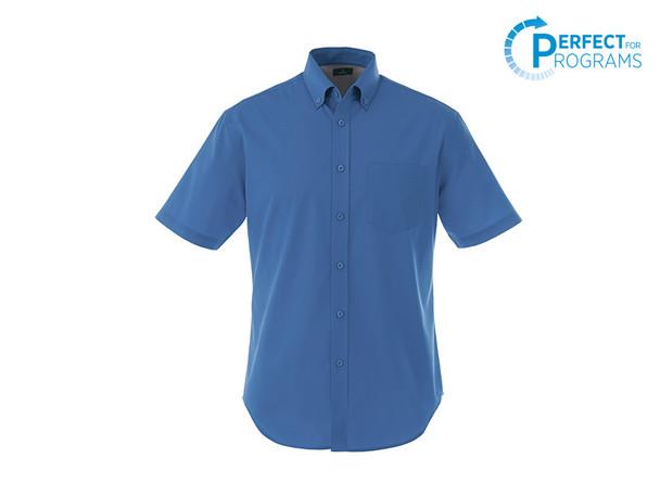 Blue 17745T Stirling Men's Tall Short Sleeve Shirt   Imprintables.ca
