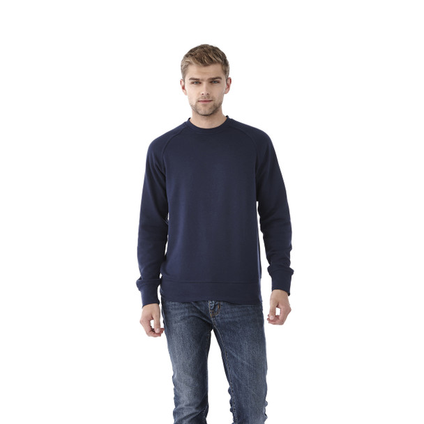 Vintage Navy, Model - Elevate 18408 Kruger Fleece Crew Sweater   imprintables.ca