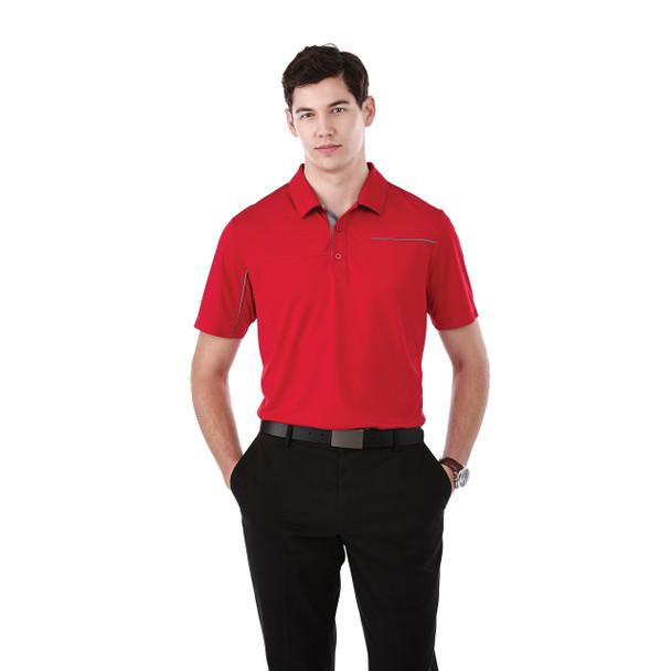 Team Red/Steel Grey, Model - 16309 Elevate Wilcox Short Sleeve Polo | imprintables.ca