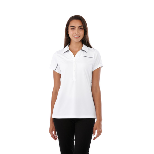 White/Steel Grey, Model - 96309 Elevate Wilcox Short Sleeve Polo | imprintables.ca