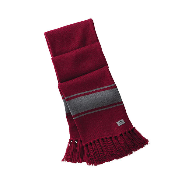 Dark Red/Quarry - 45109 Roots73 Unisex Branchbay Knit Scarf | Imprintables.ca