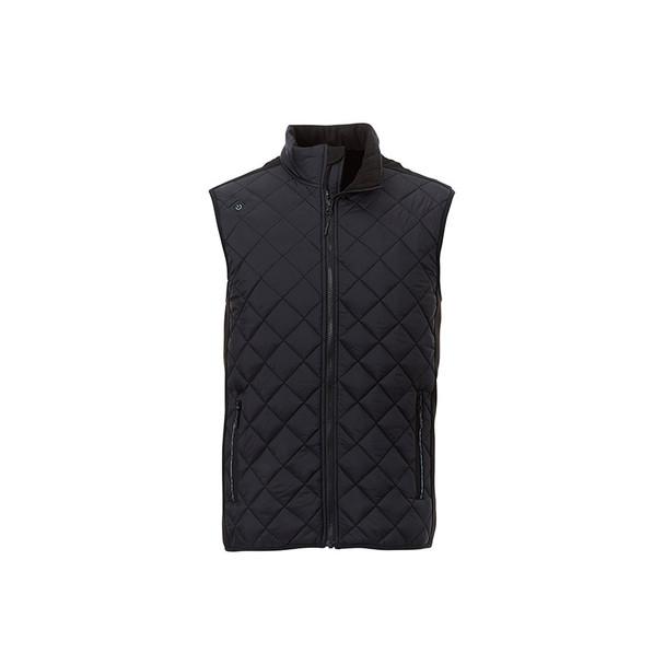 Black/Black - 14548 Elevate Men's Shefford Vest with Power Bank   Imprintables.ca