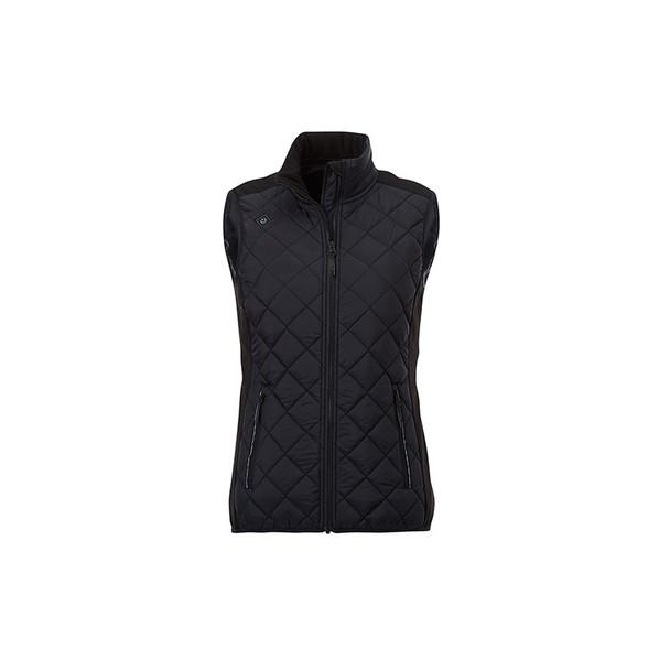 Black/Black - 94548 Elevate Women's Shefford Vest with Power Bank | Imprintables.ca
