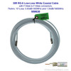 950630 Wilson 30-Foot RG-6 Low-Loss White Coaxial Cable F-Male / F-Male, label