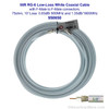 950650 Wilson 50-Foot RG-6 Low-Loss White Coaxial Cable F-Male / F-Male, label