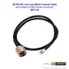 Wilson 951110 2-Foot Black Extension Cable RG58U Low Loss Foam Coaxial w/ N-Male ÌÎå«ÌÎ_ÌÎÌ_ÌÎåÌÎÌ_ÌÎå´ FME Female Connectors, label