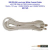 Wilson 951125 20-Foot White RG58U Low Loss Foam Coaxial Cable w/ FME Male ÌÎå«ÌÎ_ÌÎÌ_ÌÎåÌÎÌ_ÌÎå´ FME Female Connectors, label