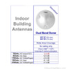 Wilson 301151 Inside 75 Ohm Directional Ceiling Dome Antenna Dual Band, specs
