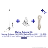 Wilson 308430 High-Gain Marine Antenna Kit w/20' RG58U Cable Dual Band, kit