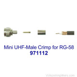 Wilson 971112 Mini UHF Male Crimp for RG 58 Cable, with label