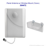 Wilson 304472 Suction-Cut Outside-facing Window Mount Panel Antenna 75 ohms Multi Band, with label