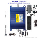 Mobile Wireless Bundle Wilson 801212-K, +50dB gain vehicle wireless amplifier system with Low Profile & Cradle Plus antennas, with label