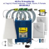 AG Pro 70 Amplifier Kit w/ 2 panel antennas, +70dB - 801265-BL2, wilson 801265-BL2, main, label