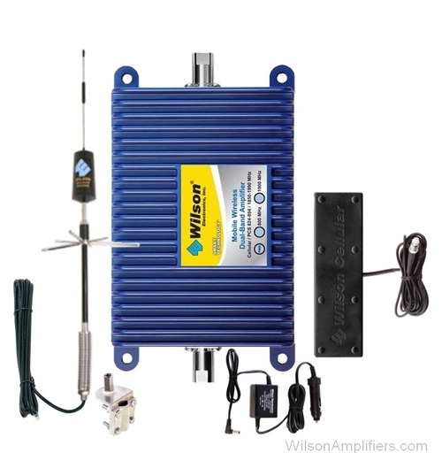 Wilson 801201-T Mobile Wireless RV Kit  +45dB gain Amplifier Kit for Trucks / RVs w/Inside Antenna Dual Band, main image
