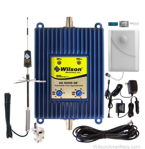 Wilson 801245-T RV kit AG SOHO 60 dB Amplifier Dual Band 850/1900 Mhz Kit for Trucks, main image