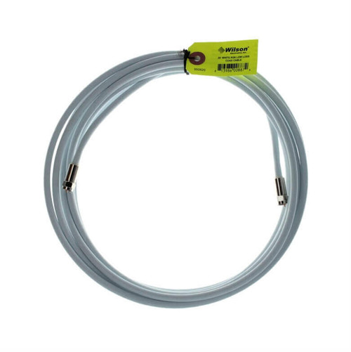 950620 Wilson 20-Foot RG-6 Low-Loss White Coaxial Cable F-Male / F-Male, main