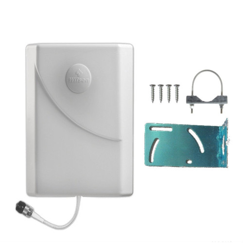 Wilson 304473 Weather-Resistant Panel Antenna with Pole Mount, 75 ohm for residential installations, WA304473, main image