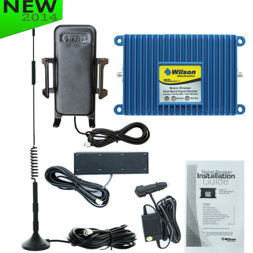 Wilson Mobile 3G +50dB Amplifier Kit w/ Cradle Plus Antenna (301148) - 460102-B - Complete Kit