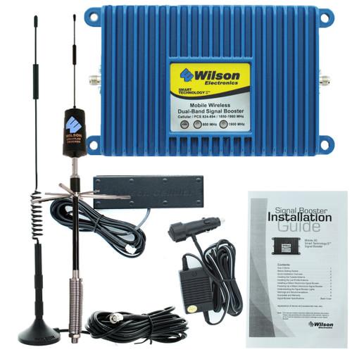 Wilson Mobile 3G +50dB Amplifier Kit w/ RV-Trucker Spring-Mount Antenna - Complete Kit