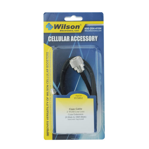 Wilson 2' RG58 Low Loss Coax Cable Extension N-Male to SMA-Male | 955802