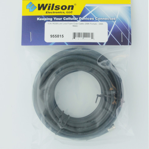Wilson 15' RG58 Low Loss Coax Cable Extension SMA Female - SMA Male | 955815