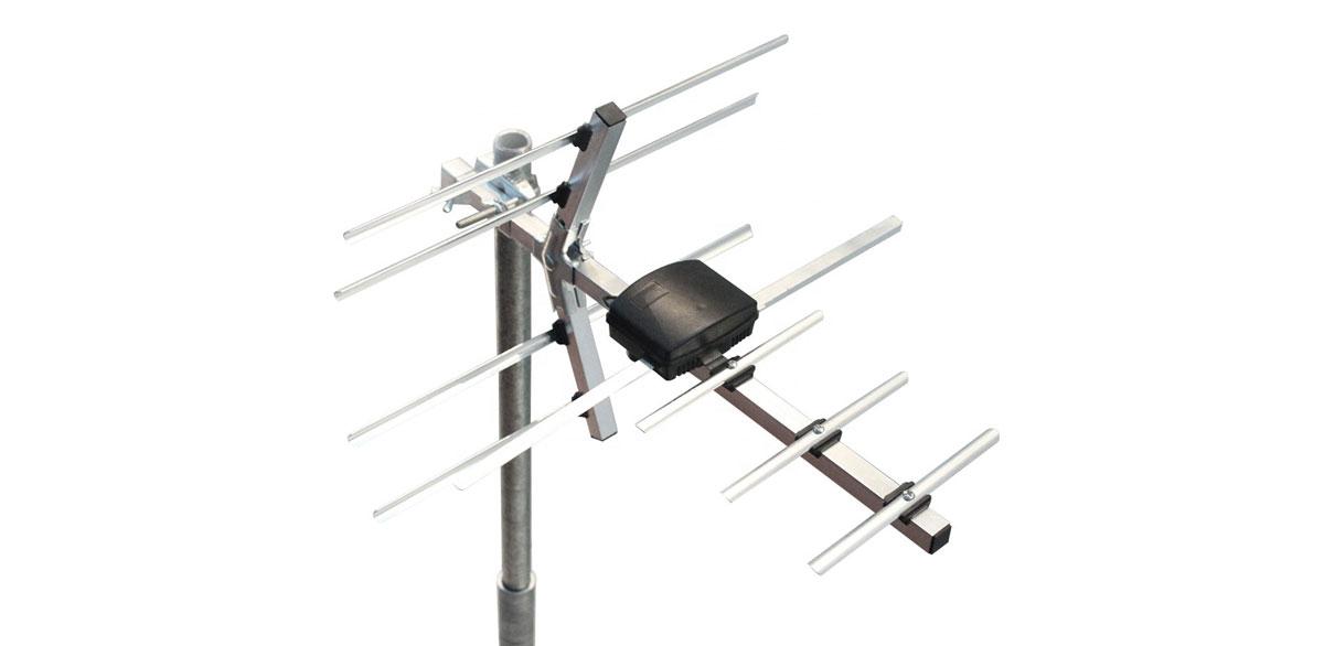 front of a Yagi antenna