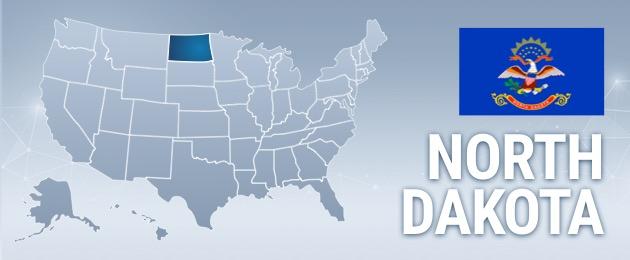 North Dakota USA Map