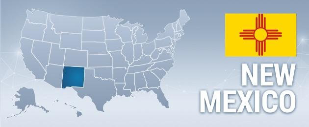 New Mexico USA Map