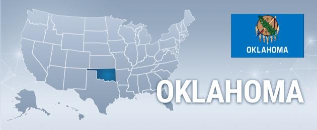 Oklahoma USA Map