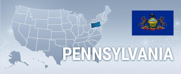 Pennsylvania USA Map