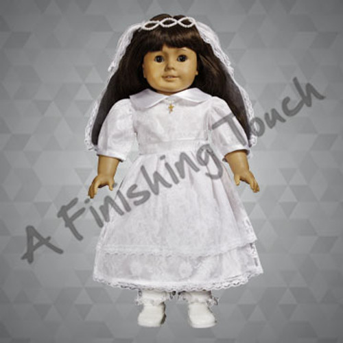 FT117- Communion Doll Dress Set for 18 inch doll