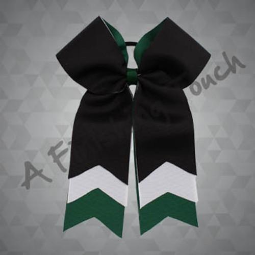 832- Arrow Three-Layer Cheer Bow
