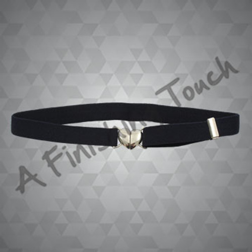 FT111- Navy Heart Stretch Belt-ON SALE WHILE THEY LAST!