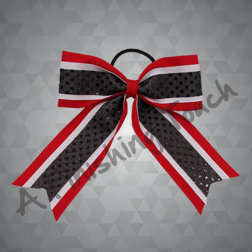 282G- Three-Layer Two-Loop Cheer Bow with Streamers