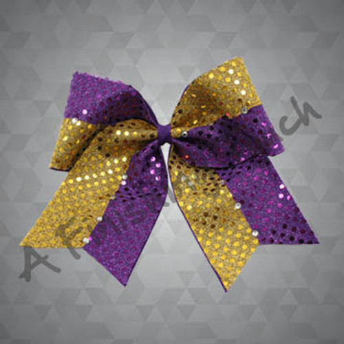 922- Large Two-Tone Cheer Bow with Classic Rhinestones