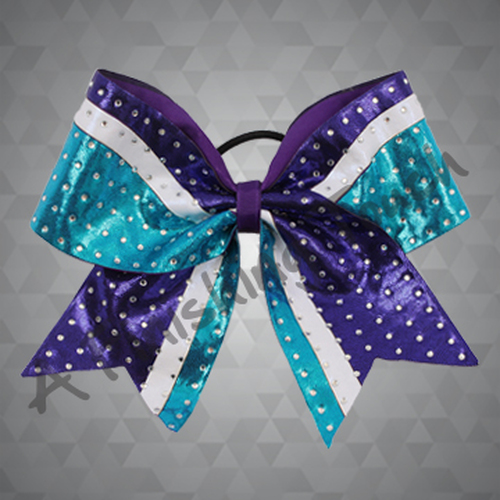 1274- Tri-Color Bow with Classic Rhinestones