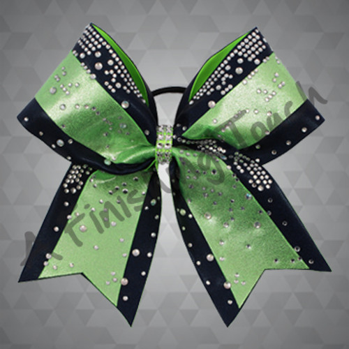 1306- Two Layer Glitz Cheer Bow with Dewdrop Classic Rhinestones